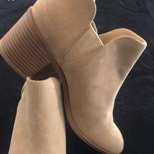 Zara heeled khaki ankle boots size 6